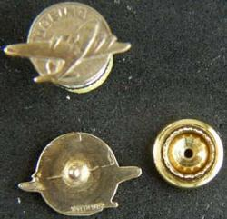 TWA Employee Lapel Pin 5/8 inch Gold on Sterling, Weingarten Gallery Item Number P-1957G