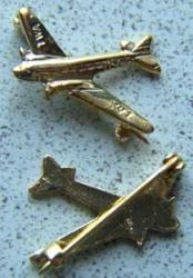 TWA DC-3 Airplane Sterling Pin, Weingarten Gallery Item Number P-1603