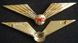 TWA Pilot Sterling w Gold Plate, Weingarten Gallery Item Number P-1772