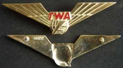 TWA Flight Engineer Sterling Gold Plate, Weingarten Gallery Item Number P-1813