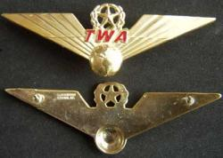 TWA Captain Wing Sterling Gold Plate, Weingarten Gallery Item Number P-1812