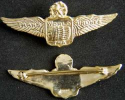TWA 1950s Shirt Pilot Wing Sterling GP, Weingarten Gallery Item Number P-1811