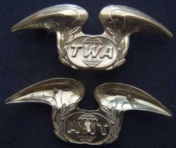 TWA Hat Badge Sterling, Weingarten Gallery Item Number P-1830