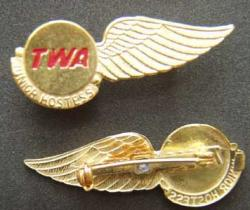 TWA - Junior Hostess Sterling, Weingarten Gallery Item Number P-1614