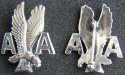 American Airlines Service Pin  Sterling Silver, Weingarten Gallery Item Number P-1778