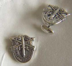Special Forces Cuff Links Sterling Silver, Weingarten Gallery Item Number P-1421F