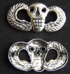 Special Forces SOG Skull Badge Sterling, Weingarten Gallery Item Number P-1792