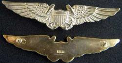 Naval Flight Officer wing Sterling Gold Plate, Weingarten Gallery Item Number P-1938