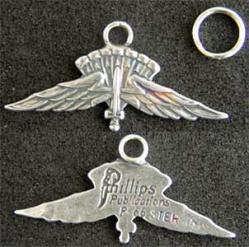 US Army Halo Jumper Charm Sterling, Weingarten Gallery Item Number P-1949BC
