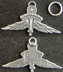 US Army Master Halo Jumper Charm Sterling, Weingarten Gallery Item Number P-1949MC