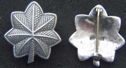 WWI Lt. Colonel Rank sterling silver pin back, Weingarten Gallery Item Number P-2044