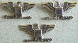 Colonel Eagles current War Eagles Sterling Silver set of three, Weingarten Gallery Item Number P-1530-3