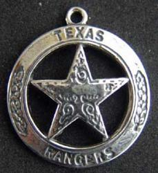 Texas Ranger Charm sterling, Weingarten Gallery Item Number P-1710