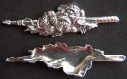 Menuki Sword Fitting Sterling Silver 601, Weingarten Gallery Item Number T-601
