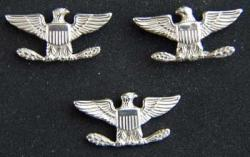 Navy Captain current War Eagles Sterling Silver set of three, Weingarten Gallery Item Number P-1599-3