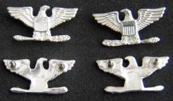 Colonel Navy Captain Collar Insignia Sterling set of 3, Weingarten Gallery Item Number P-1837-3