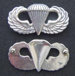 Post WWII Paratrooper Badge Assman, Weingarten Gallery Item Number P-2084