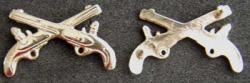 Infantry Officer Collar Pin back set of two, Weingarten Gallery Item Number P-1757P