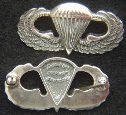 Luxenberg Paratrooper Badge Sterling, Weingarten Gallery Item Number P-2157
