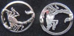 WWII French F-554 Squadron Pilot Pin Sterling Silver Scorpion, Weingarten Gallery Item Number P-2168-2