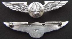 American Airlines Sterling Stewardess Wings Sterling w Gold Plate, Weingarten Gallery Item Number P-2011G