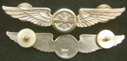 American Airlines Flight Engineer wing Sterling with gold plate, Weingarten Gallery Item Number P-2181