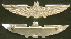American Airlines Sterling w Gold Plate Stewardess Wings Sterling Type II, Weingarten Gallery Item Number P-2182G