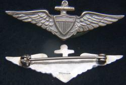 1920s to 1930s US Navy Pilot wing for garrison cap Sterling, Weingarten Gallery Item Number P-2191