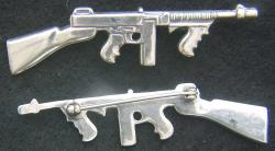Thompson SubMachine Gun Pin in Sterling Silver, Weingarten Gallery Item Number P-2193