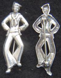 WWII Sailor Pin Sterling Silver, Weingarten Gallery Item Number P-2199