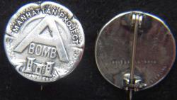 WWII Manhattan Project A-Bomb Sterling Pin, Weingarten Gallery Item Number P-2201