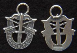 Special Forces Lightweight Sterling Charm, Weingarten Gallery Item Number P-2238