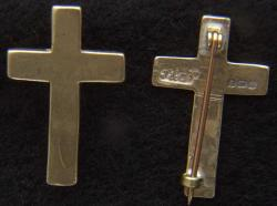 WWI US Chaplain Collar British made Gold Plated Brass Pin Back, Set of two, Weingarten Gallery Item Number P-2194B