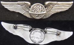 WWII Luxenberg Navigator Wing Sterling Silver, 1st pattern by Weingarten Gallery Item Number: P-1823N