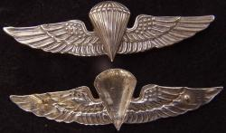 USMC Paratrooper Badge Vietnam Sand Cast Gold Plated Brass, Weingarten Gallery Item Number P-2257