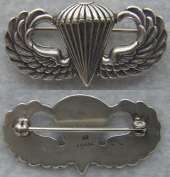 WWII Paratrooper Badge Sterling Silver Balfour LGB, Weingarten Gallery Item Number P-2272
