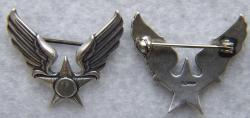 WWII Sweetheart Hap Arnold Wings Sterling Silver by Weingarten Gallery Item Number: HAP-1