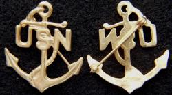 WWI Chief Petty Officer (CPO) Sweetheart pin Gold over Sterling silver, Weingarten Gallery Item Number P-2283