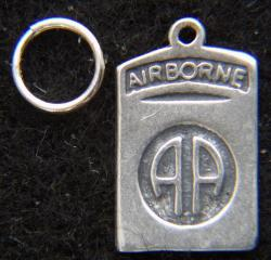82nd Airborne Sterling Charm by Weingarten Gallery Item Number: P-2323