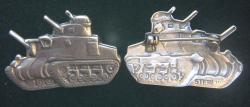 US Army 1940-1942 Officers Tank Corp Collars, sterling by Weingarten Gallery Item Number: P-2370
