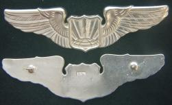 Remotely Piloted Aircraft (RPA) Pilot Wing, Basic Sterling Silver by Weingarten Gallery Item Number: P-2355B