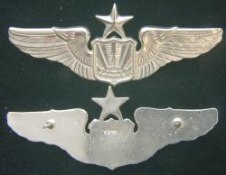 Remotely Piloted Aircraft (RPA) Pilot Wing, Senior Sterling Silver by Weingarten Gallery Item Number: P-2355