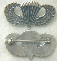 Post WWII US Paratrooper Wing Badge OEC  Sterling by Weingarten Gallery Item Number: P-2351