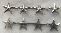 4 Star Rank Sterling Silver for overseas cap by Weingarten Gallery Item Number: P-2413