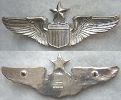 USAF Senior Pilot Wing Sterling Silver Current full size by Weingarten Gallery Item Number: P-2421