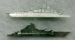 WWII Battleship Sweetheat pin Sterling Silver by Weingarten Gallery Item Number: P-2434