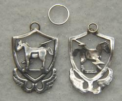 10th Special Forces 1950s beret badge Sterling Silver Charm, Weingarten Gallery Item Number P-2176C