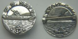 WWII US Navy Sweetheart Pin Sterling Silver by Weingarten Gallery Item Number: P-2446