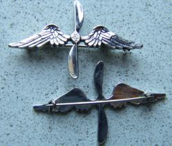 WWI Aviation Collar Insignia, Weingarten Gallery Item Number P-1605