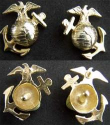 WWI USMC Enlisted EGA Sterling with Gold, Weingarten Gallery Item Number P-1691